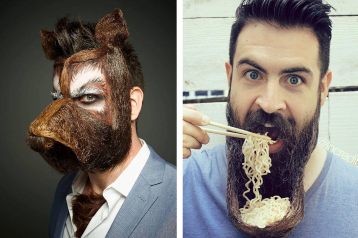 Čajník, zobák či dinosaurus. Umelec vytvára pomocou svojej brady neuveriteľné veci