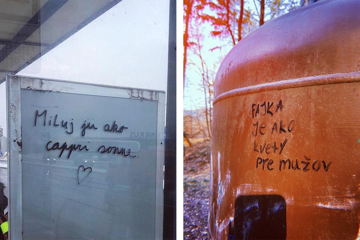 Instagramový profil zbiera vtipné odkazy z ulíc, ktoré za sebou Slováci zanechali