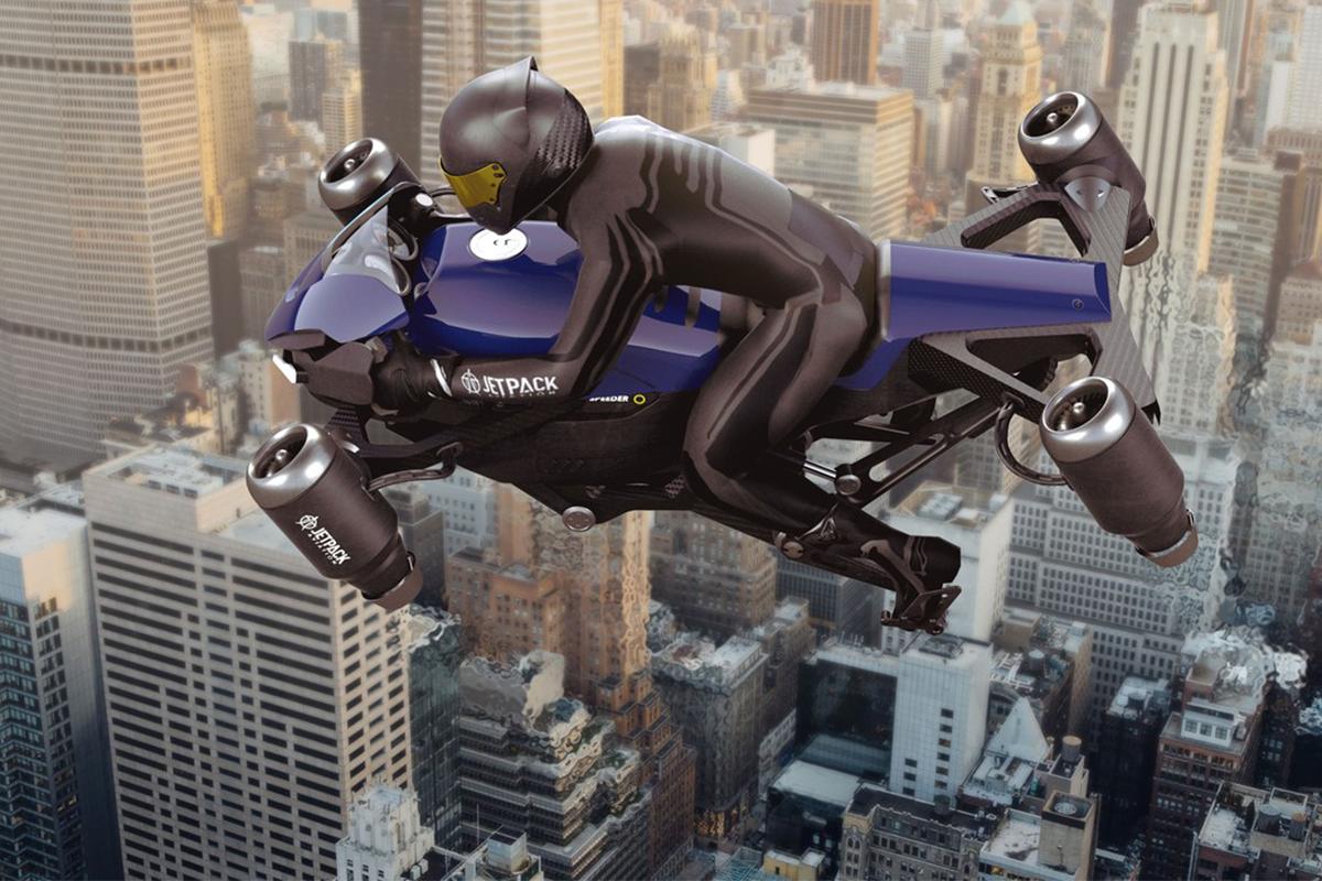 Spoločnosť JetPack Aviation plánuje uvedenie prvej lietajúcej motorky na trh